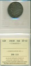 ICCS CAN 1903H 50 cents EF-40 XNB 555