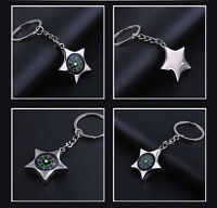 Fashion Creative Compass Metal Car Keyring Keychain Key Chain Ring Keyfob DD