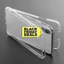 360° Full Body Rubber Soft Silicone Gel TPU Clear Case Cover For iPhone 6 7 8 X