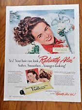1950 Prell Shampoo Ad  Vitally Alive Skiing Theme