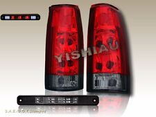 88-98 CHEVY GMC C/K TRUCK TAIL LIGHTS RED SMOKE+ SMOKE 3RD BRAKE LIGHT LED