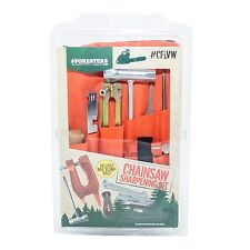 """Forester Chainsaw Deluxe Sharpening Kit W/ Stump Vice, For Large Saws 7/32"""" File"""