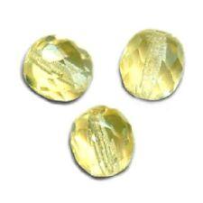 5 Perles Facettes cristal de boheme 12mm - JONQUIL JONQUILLE