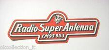 ADESIVO RADIO anni '80 / Sticker _RSA RADIO SUPER ANTENNA MONZA (cm 14x5 ) rosso