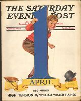 APRIL 2 1938 SATURDAY EVENING POST vintage magazine APRIL FOOLS