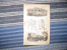 ANTIQUE 1821 LISBON PORTUGAL MADRID SPAIN ETHNOLOGY ETHNIC PRINT FINE NR