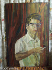 Pop Culture Man Retro Beatnik Cigarette Painting Primitive Steampunk Smoking