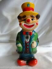 Vintage lMlD Rubber Clown Coin Bank