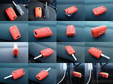 La qualità in silicone 3 pulsante Flip PORTACHIAVI Protector Case VW MARK 7 Golf/Golf R