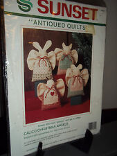 Sunset Antiqued Quilts Calico Christmas Angels Kit