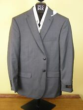 $650 New Jos A Bank JOSEPH grey & dark check suit 41 L 35 W Slim fit