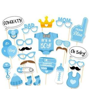 25pcs It's A Boy Girl Photo Booth Props Baby Shower Kids Photography Party Decor