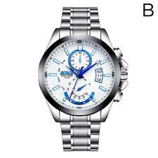 Mens Watches Luxury Sports Casual Wristwatch Quartz Stainless Steel Waterproof