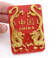 "1 Pcs 3D Red Fridge Magnet ""China Dragon"" Travel Souvenir Brand New 5*7CM"