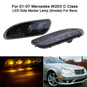 LED Side Marker Light Bumper Turn Signal Lamps For Benz W203 C-Class 2001-07
