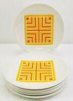 "Johnson Bros Ironstone MCM Snowhite Regency Dessert Plates 6 1/4"" Set Of 6"
