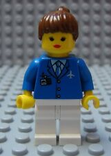 LEGO Girl Female Minifig Classic Town Airport Worker Flight Attendent