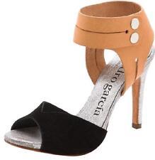 Pedro Garcia Sheryl Luggage Vacchetta Black Ankle Strap Sandals Size 38.5 1186