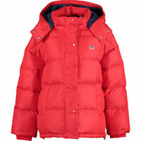 LEVI'S Women's Red Down Padded Hooded Jacket, size LARGE