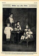 Prinzessin Elias von Bourbon-Parma mit ihren Kindern c.1915