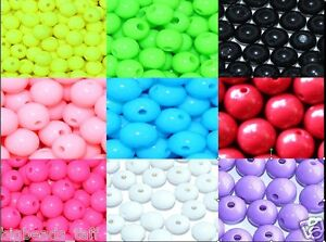6mm - 30mm  round spherical acrylic beads choice of colours, sizes jewel making