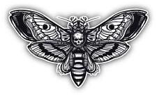 Deaths Head Hawk Moth Car Bumper Sticker Decal 5'' x 3''
