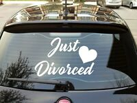 JUST DIVORCED Sticker Funny Vinyl Decal Car Truck Window funny marriage party :
