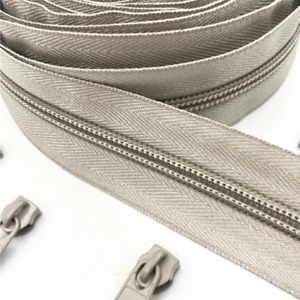 Zipper Roll Nylon Coil 5# Close Ends Tailor Sewing Findings Craft Zip Sliders