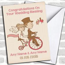 Pretty Vintage bike mariage bénédiction Personnalisées Carte