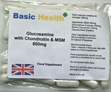 Glucosamine Chondroitin MSM x 30 All in 1 850mg Capsule Joint Relief Arthritis