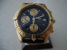 Stunning Mens Breitling Chronomat Chronograph watch In 18k Solid Yellow Gold