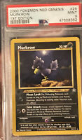 2000 Pokemon 1st Edition Neo Genesis Murkrow Non Holo PSA 9 Mint Set