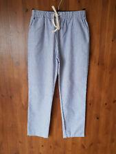 NASTY GAL SWEEWE TROUSERS Blue & White Striped Peg Skinny Leg UK 8-10 - NEW