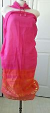 Victoria's Secret PINK ORANGE SARONG/COVER UP-Summer Love One size NWT