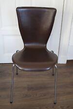 ★ Esszimmerstühle 2er Set Retro Küchen-Stuhl Design Stühle, Kunstleder, braun★
