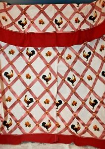 Rooster Red Curtains Better Homes & Gardens Red White Checks 3 Piece