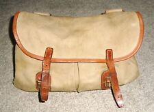 """Quality """"Brady"""" Canvas & Leather Trout/Fly Fishing Bag / Shoulder Bag"""