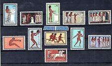 Greece. Olympic Games Rome 1960 MNH, Sprinters Long Jump Olympic Flame Armistice