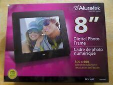 "Aluratek - 8"" LCD Digital Photo Frame - Black - WITH BOX"
