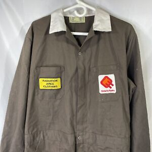 Vintage 1988 Ontario Hydro Pickering NGF Coveralls 46L Jump Suit Brown Mens Work
