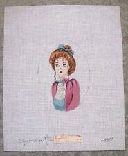 EP #164A Hand Painted HP 24ct Mono Needlepoint Canvas ~ Small Portrait of Girl