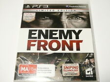"""ENEMY FRONT LIMITED EDITION PS3 R4 """"VGC"""" AUZ SELLER"""