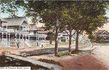 NIANTIC, CT ~ STREET VIEW & HOMES AT CRESCENT BEACH, PEOPLE, GATES PUB c 1907-14