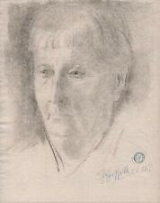 OLD LADY PORTRAIT Drawing SICKERT Pupil FRANK GRIFFITH 1953 IMPRESSIONIST