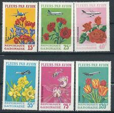 Gabon Scott #C109-111 MNH Flowers 1971