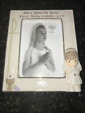 PRECIOUS MOMENTS COMMUNION PHOTO FRAME BLESS YOU ON YOUR FIRST HOLY COMMUNION