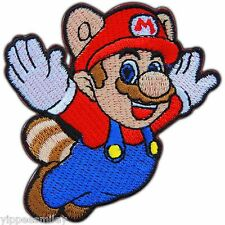 TANOOKI FLYING SUPER MARIO VIDEO GAME CARTOON KIDS CLASSIC IRON ON PATCH #0437