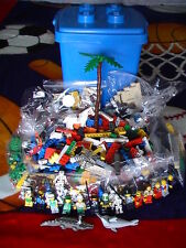 Authentic Huge Lego Lot: 15 Minifigures+ 5 lbs of Lego Parts & Pieces+Container