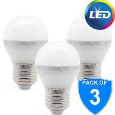 3x 5 W E27 LED ENERGY SAVER TAPPO A VITE Palla Da Golf Lampadina 35 W SOSTITUZIONE Cool Bianco