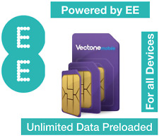 Vectone Powered by EE Data Sim card,Preloaded with Unlimited data for Dongles